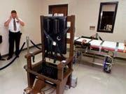 Todesstrafe: Die USA haben in Tennessee binnen eines Monats zwei Menschen auf dem elektrischen Stuhl hingerichtet. (Bild: KEYSTONE/AP/MARK HUMPHREY)