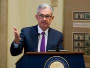 Federal Reserve Chef Jerome Powell schätzt die US-Wirtschaft weiter als sehr gut ein. (Bild: KEYSTONE/FR170079 AP/CLIFF OWEN)