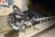 Das Unfallauto war auf der A2 unterwegs. (Bild: Luzerner Polizei)