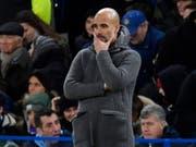Pep Guardiola mit Manchester City erstmals in dieser Saison geschlagen (Bild: KEYSTONE/EPA/WILL OLIVER)