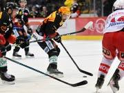 Der SC Bern um Topskorer Mark Arcobello behielt gegen Rapperswil-Jona die Oberhand (Bild: KEYSTONE/PPR/LUKAS LEHMANN)