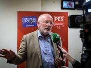 Spitzenkandidat der europäischen Sozialdemokraten für die Europawahl 2019: der frühere niederländischen Aussenminister Frans Timmermans. (Bild: KEYSTONE/EPA LUSA/MARIO CRUZ)