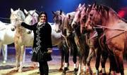 Pferde und ihre Familie: Das sind die grossen Leidenschaften von Géraldine Knie. (Keystone)