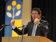 Albert Rösti, Präsident der SVP Schweiz, avancierte zum Hauptredner des Abends. (Bild: Urs Hanhart (Schattdorf, 7. Dezember 2018))