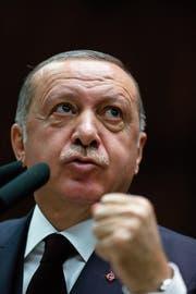 Der türkische Präsident Recep Tayyip Erdogan. (Bild: Burhan Ozbilici/AP (Ankara, 6. November 2018))