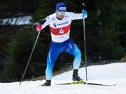 Sprintete für die Schweizer Staffel auf den 4. Platz: der Urner Roman Furger (Bild: KEYSTONE/GIAN EHRENZELLER)