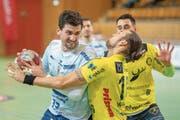 Überzeugte und erzielte sechs Tore für die Krienser: Filip Gavranovic (links). (Bild: Urs Bucher (St.Gallen, 9. Dezember 2018))
