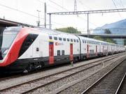 Der neue Doppelstockzug FV-Dosto kommt vorerst nur als Interregio zwischen Chur, St. Gallen, Zürich und Basel zum Einsatz. (Bild: KEYSTONE/ANTHONY ANEX)