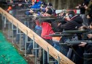 Zum traditionsreichen Gangfischschiessen kommen jedes Jahr viele Schützen, um sich zu messen. (Bild: Reto Martin)