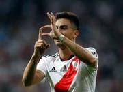 Gonzalo Martinez feiert sein Tor im Final (Bild: KEYSTONE/AP/THANASSIS STAVRAKIS)