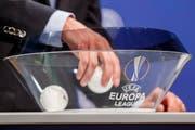 Die Auslosung der Europa League fand am Montagnachmittag in Nyon statt. (Bild: Keystone)