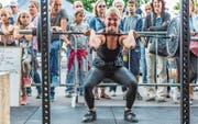 Ein Kraftakt: Gewichtheben ist eine von vielen kraftintensiven Sportarten am Festival. (Bild: Patrick Hürlimann (Zug, 19. August 2017))