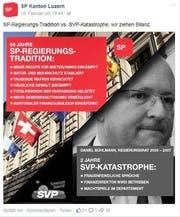 Die SP des Kantons Luzern nimmt alt SVP-Regierungsrat Daniel Bühlmann ins Visier. (Bild: Screenshot Facebook)