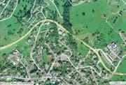 Die Umfahrung Weggis (gelb eigentzeichnet) wird für insgesamt rund 6 Millionen Franken saniert. (Karte mapsearch.ch)