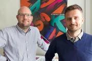 Tobias Klauser (links) und Matthias Hauser führen die Fachklasse Grafik künftig als Co-Leitungsteam. (Bild: pd)