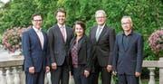 Der künftige Verwaltungsrat der Triaplus AG wurde von den Regierungen der Konkordatskantone Uri, Schwyz und Zug bestimmt: (von links) Daniel Grunder, Gerhard Dammann, (Bild: PD)