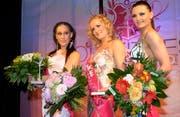 Die holten einen Podestplatz (von links): Nataya Nobel (2.), Yevgeniya Stöcklin (1.) und Yuliya Stecher (3.).