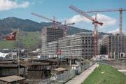 Im vordersten Gebäude der Mattenhof-Überbauung soll das Gesundheitszentrum realisiert werden. (Bild: Dominik Wunderli (Kriens, 10. April 2018))