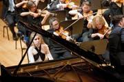 Grosses Solo: Natasha Roqué Alsina spielt mit dem Luzerner Sinfonieorchester das zweite Klavierkonzert von Sergei Rachmaninow. (Bild: Eveline Beerkircher)