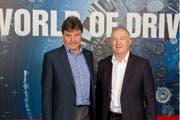 Mehrheitsaktionär Karl-Walter Braun (links) und CEO Eugen Elmiger. (Bild: pd)