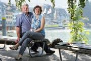 Richard Rüegg und Tabea Zimmermann leiten die Kiss- Genossenschaft der Stadt Zug. (Bild Werner Schelbert)