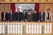 Sieben Männer und eine Frau wollen in Obwaldens Regierung. (Bild: Urs Flüeler/Keystone)