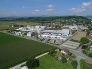 Luftaufnahme der Mittelland Molkerei AG in Suhr. (Bild: pd)