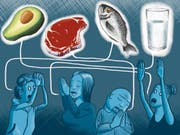 Was heute gesund ist, macht morgen krank. Mit grossem Furor wird über die «richtige Ernährung» gestritten. Illustration (Bild: : Tiemo Wydler)