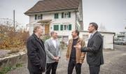 Die Baumeister (von links): Bruno Kiener, Othmar Betschart, Cornel Raess und Daniel Rüttimann. (Bild: Pius Amrein (Hochdorf, 6. Dezember 2017))