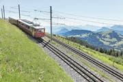 Eine Bahn in Richtung Rigi Kulm. (Bild: GAETAN BALLY/KEYSTONE)