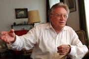 Max Hofer, hier 2004 während eines Interviews mit der Neuen Luzerner Zeitung. (Bild: Archiv Neue LZ)