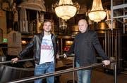 Milos Kant (rechts) und Princesse-Betreiber Massimo Minacapilli im Opera Club in Luzern im Jahr 2012. (Bild: Remo Naegeli / Neue LZ)