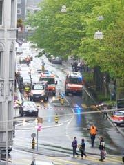 Hier bei der Kreuzung Moosstrasse/Bundesstrasse kam es am Samstag zum tödlichen Unfall.