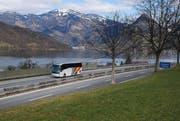 Wegen Instandsetzungsarbeiten auf der A2 müssen Anschlüsse zwischen Acheregg und Beckenried, so auch in Buochs (Bild), gesperrt werden. (Bild: Corinne Ganzmann / Neue NZ)