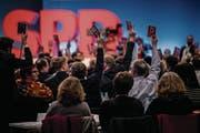 Am Sonderparteitag in Bonn Ende Januar stimmte eine knappe Mehrheit der SPD-Delegierten für den Eintritt in die GroKo-Verhandlungen – nun richten mehr als 460000 SPD-Mitglieder über das Zustandekommen der neuen deutschen Regierung. (Bild: Lukas Schulze/Getty (21. Januar 2018))