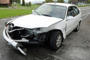 Eines der in den Unfall involvierten Fahrzeuge. (Bild: Luzerner Polizei)