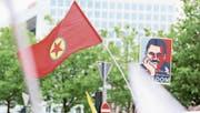 PKK- und PYD-Unterstützer nahmen am G20 an Protestmärschen teil. (Bild: Cuneyt Karadag/Getty (Hamburg, 8. Juli 2017))