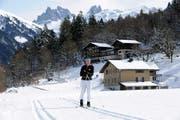 Ruth Gander nimmt als einzige Frau aus Nidwalden am Vasalauf teil. Hier beim Training auf der Loipe in Engelberg. (Bild: Christoph Riebli)