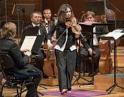 Patricia Kopatchinskaja am Mittwoch im KKL. (Bild: Priska Ketterer/LF)