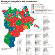 Grafik Kindergaertenangebote im Kanton LUzern