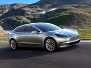 Elektromobilität für die Masse: Am Freitag startet die Produktion des Tesla-Mittelklassewagens Model 3. (Bild: KEYSTONE/EPA TESLA/TESLA / HANDOUT)