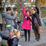 Asiatische Touristen wollen umworben werden. (Bild: Boris Bürgisser)
