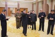 Ein Foto des nordkoreanischen Präsidenten Kim Jong Un im März 2017. (Bild: EPA/KCNA)