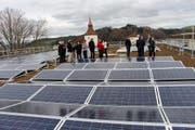 Die Solaranlage auf dem Dach der Heilpädagogischen Schule in Willisau. (Bild: PD)