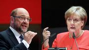 Martin Schulz und Angela Merkel (Bild: Keystone)