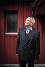 Toni Bucheli, inzwischen 87-jährig, in der Luzerner Hermitage. (Bild: Nadia Schärli (Luzern, 3. Mai 2017))