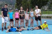 Die Tennisspielerinnen und –spieler. (Bild: PD/Bildungs- und Kulturdirektion Uri)