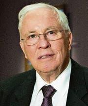 Christoph Blocher, glücklicher Unternehmer und Politiker.