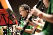 Kantonales Jugendmusikfest: Die Wangerkids Grosswangen während ihres Auftritts. Fotografiert am 28. Mai 2016 in Beromünster (NeueLZ/Nadia Schärli) (Bild: Nadia Schärli (Neue LZ) (Neue Luzerner Zeitung))
