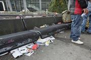Abfall an der Luzerner Fasnacht. (Bild: Philipp Schmidli / Neue LZ)